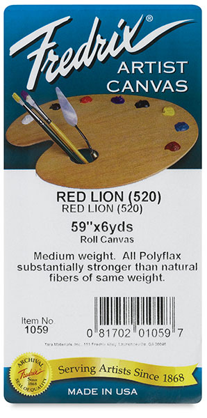 Style 520 Polyflax Acrylic Primed Red Lion Canvas, Roll