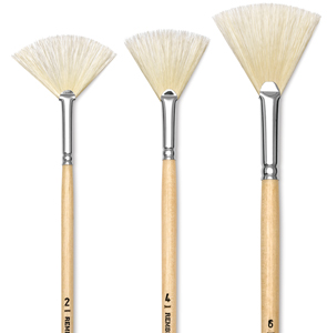 Hog Bristle Fan Brushes