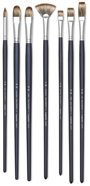 Royal SableTek Brushes, Long Handle