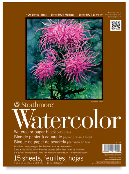 strathmore watercolor paper Free shipping on orders over $35 buy strathmore watercolor paper pad, 11 x 15, 140lb, cold press, 12 sheets at walmartcom.