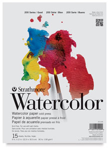 Watercolor Paper, 15 Sheet Pad