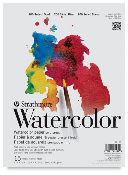 strathmore watercolor paper Recently strathmore sent me a 6 x 9 inch pad of their new vision watercolor paper it was an add-on because they were sending me some of their new toned 400 series mixed media paper (i will review that in another post.