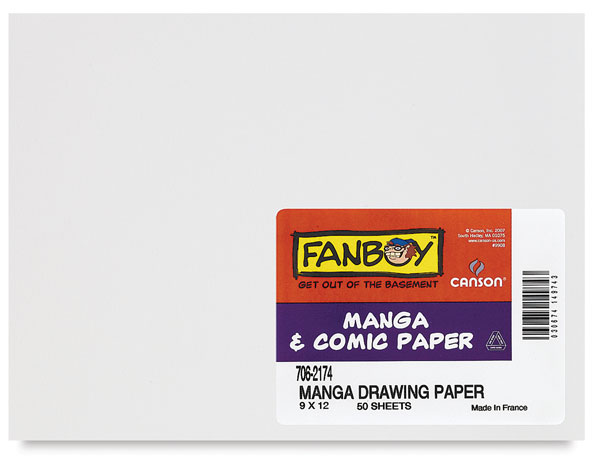 Manga Drawing Paper, Package of 50 Sheets