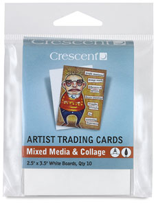 Mixed Media and Collage, White,  Package of 10 