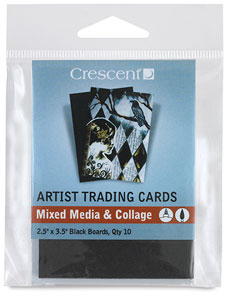 Mixed Media and Collage, Black,  Package of 10 