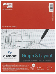 Graph Pad, 4&quot; &amp;times; 4&quot; Grid, 40 Sheets