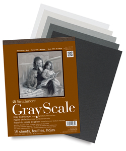 Gray Scale Pad, 15 Sheets 9&quot; &amp;times; 12&quot;