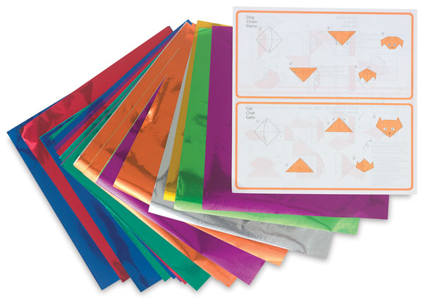 Color Foil Origami Paper, Pkg of 36