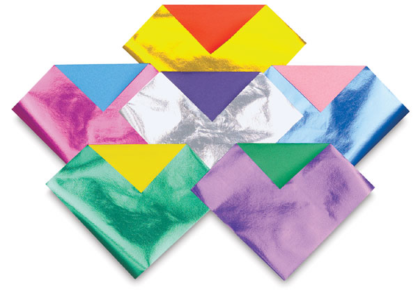 aitoh doublesided foil origami paper blick art materials