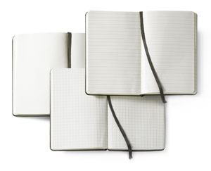 Blank, Lined, and Gridded Notebooks