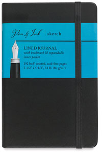 "Lined Journal, 96 Sheets 3½"" × 5½"" Portrait"