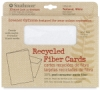30% Recycled Fiber Cards and Envelopes, Box of 10 Textured, White