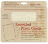 30% Recycled Fiber Cards and Envelopes, Box of 10 Textured, Cream