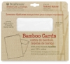 Bamboo Cards and Envelopes, Box of 10 Textured, Natural