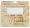 Hemp Cards and Envelopes, Box of 10 Laid Finish, Natural