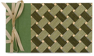 Ribbon Bound Album, Small, Green/Black