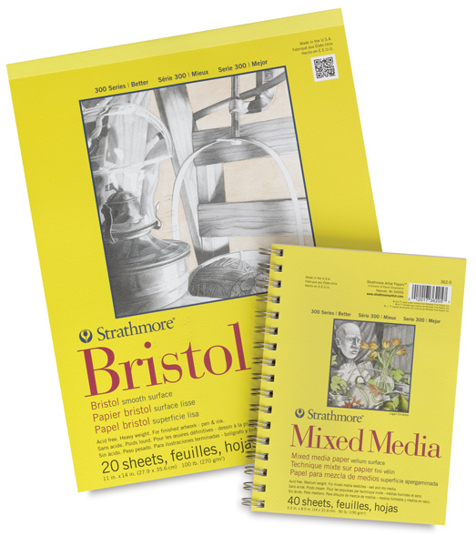 Bristol Pad, 20 sheets with a  FREE  Mixed Media Pad