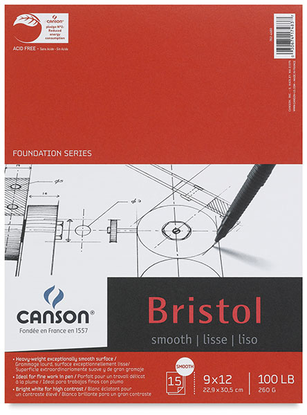 Bristol Pad, Smooth Finish, 15 Sheets