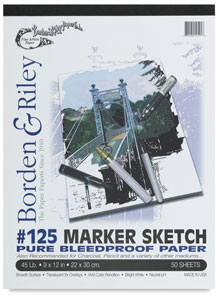 #125 Marker Sketch Pad, 50 Sheets