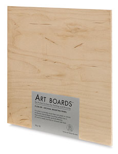 "Natural Maple Plein Air Panel, 12"" × 12"""