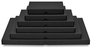 Metal Edge Archival Clamshell Boxes, Black