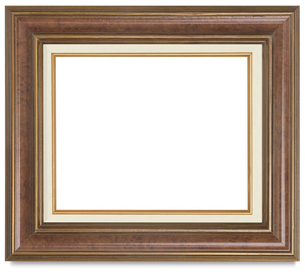 Antique Burlwood and Gold Frame