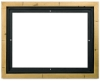 Floater Frame, Gold Leaf w/Black, 7/8&quot; Depth