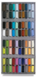 Sennelier Half-Stick Soft Pastel Sets, Set of 80, Plein Air Landscape, Half-Sticks