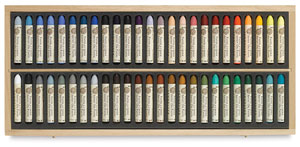 Sennelier Oil Pastel Sets, Set of 50, Wood Box