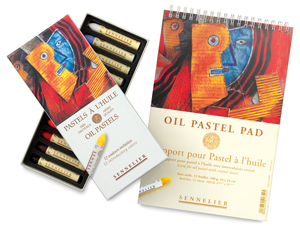 Set of 12, Starter w/ FREE  Oil Pastel Card Pad