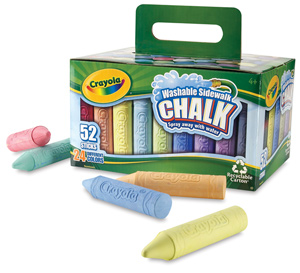 Sidewalk Chalk, Bucket of 52