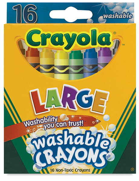 Kids First Washable Crayons, Set of 16