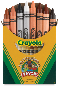 Large Multicultural Crayons, Set of 8