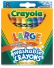 Large Washable Crayons, Set of 8