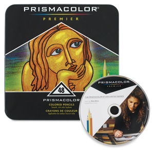 Prismacolor Pencils, Tin Box Set of 48 with  FREE Bonus DVD 