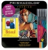 Tin Box Set of 72 with  FREE Set of 4 Illustration Markers and Artist Trading Cards 