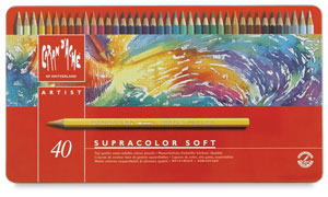 Caran d'Ache Supracolor Soft Aquarelle Pencil Sets, NULL, Set of 80