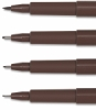Nib Detail  Brush, Medium, Fine, and Superfine  (top to bottom)