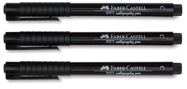 20870 2029 faber castell pitt calligraphy pens blick Drawing with calligraphy pens