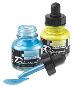 Pearlescent Liquid Acrylic Artist&#39;s Inks