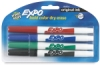 Assorted Fine Tip Dry Erase Markers, Set of 4