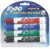 Chisel Tip Dry Erase Markers, Set of 4
