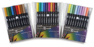 Dual Brush-Pen Sets