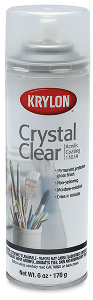 krylon crystal clear acrylic coating blick art materials. Black Bedroom Furniture Sets. Home Design Ideas