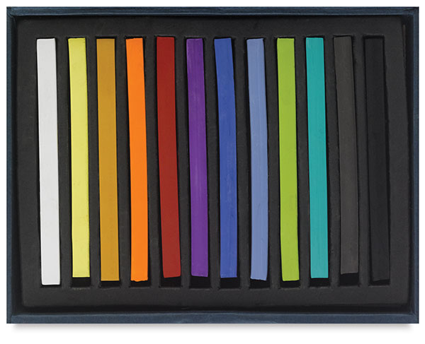 Semi-Hard Square Pastels, Set of 12