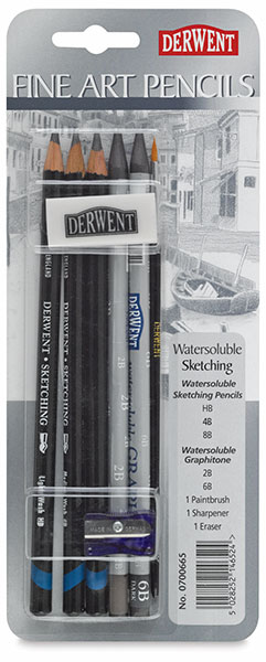 Water Soluble Sketching Pencils Pack