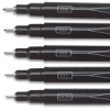Black Fine Line Markers, Set of 5