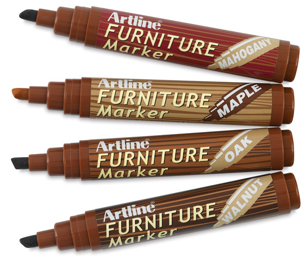 Furniture Touch Up Using A Marker Pen