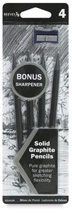 Graphite Pencil Pkg of 4  with FREE Sharpener 