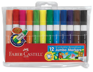 Jumbo Broadline Washable Markers, Set of 12